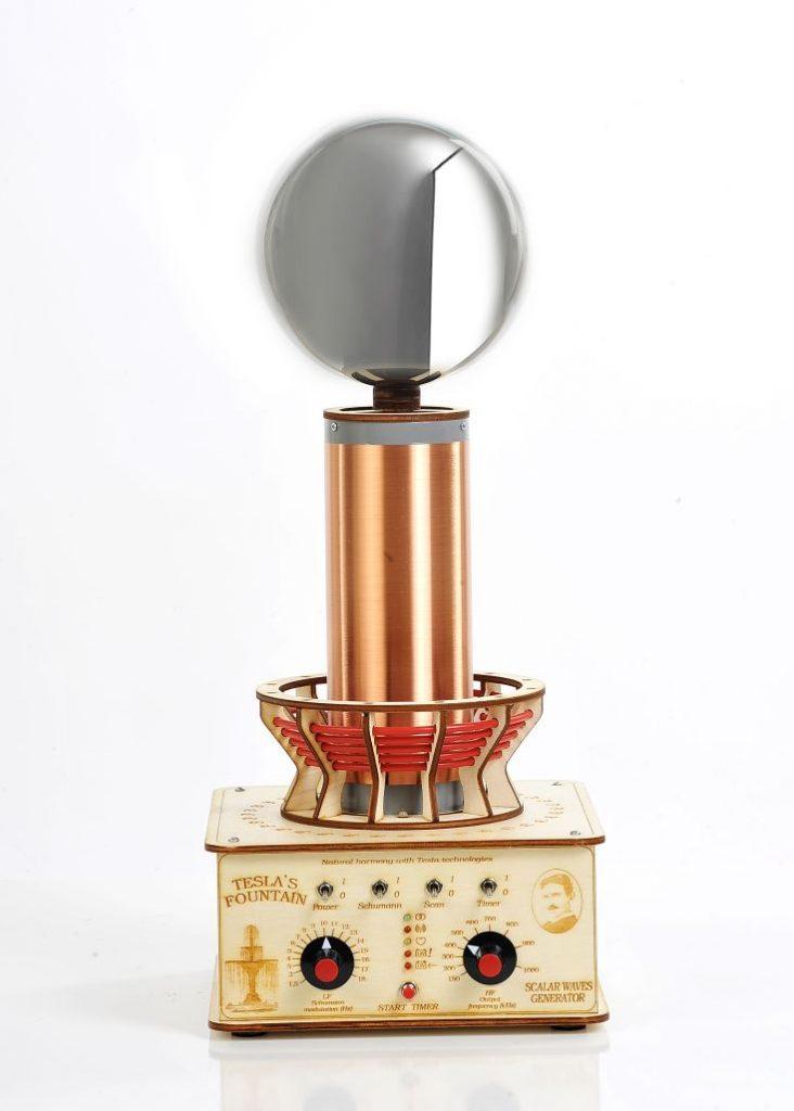 Profesionalna Teslova fontana je Teslov generator, ki oddaja Teslove skalarne valove