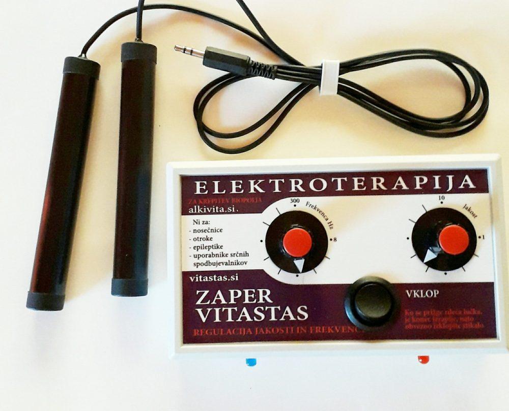 Elektroterapija Zaper Vitastas z nastavljico mocjo in frekvenco
